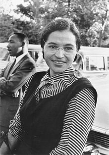 Rosa Parks with Martin Luther