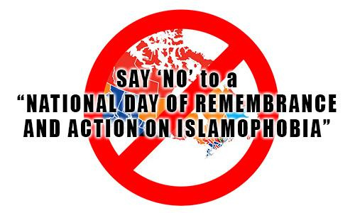 "Say ""NO"" to a National Day of Remembrance and Action on Islamophobia"