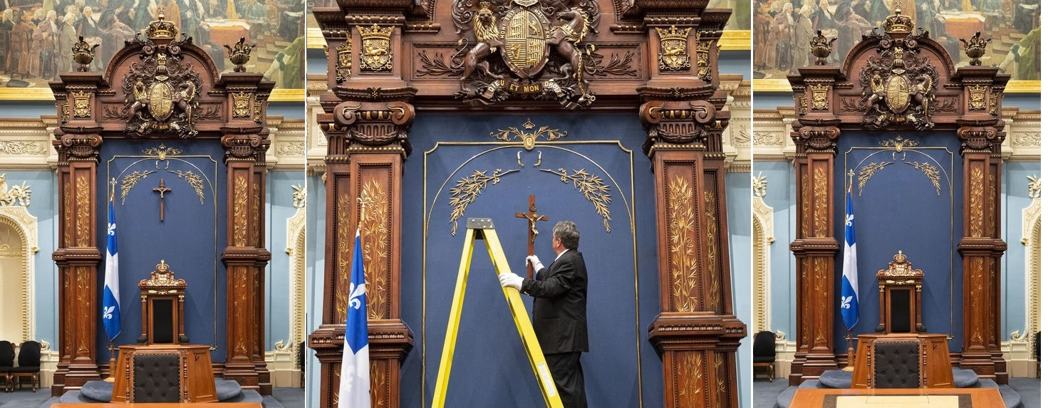 2019-07-09: Crucifix removed from National Assembly