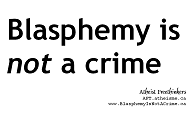 Blasphemy is not a crime