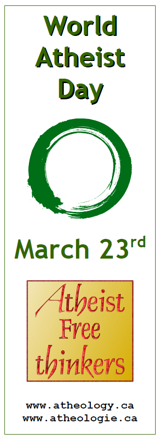 World Atheist Day, March 23rd