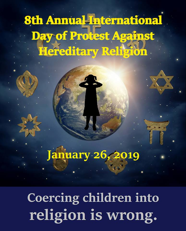 8th Annual International Day of Protest Against Hereditary Religion